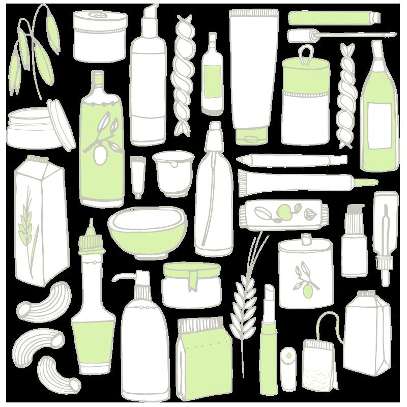 Kräutermassagefluid Sprühflasche